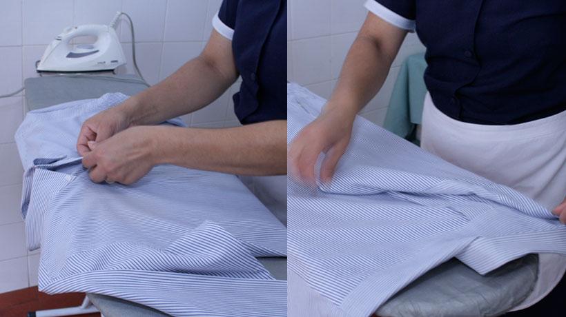 dobrando a camisa