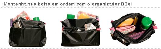 organizador de bolsas, refil, preto